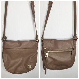 Vince Camuto Leather Crossbody Bag Smokey Quartz